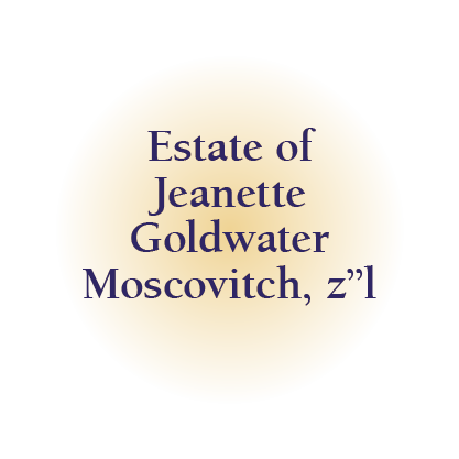 Estate of Jeanette Goldwater Moscovitch